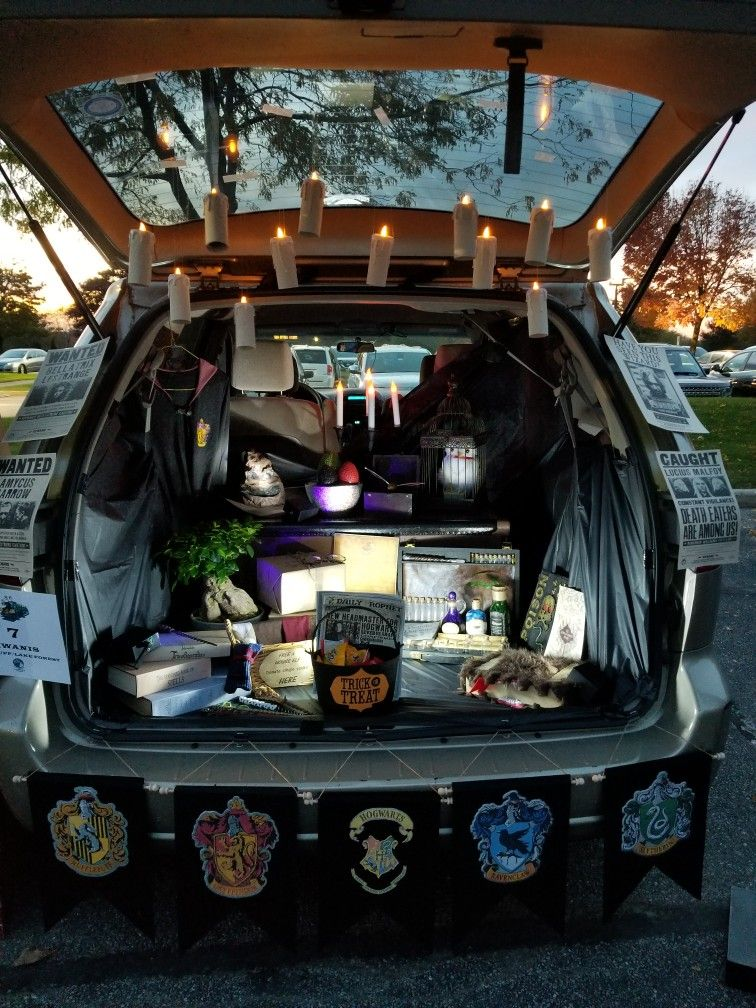 Harry Potter Trunk or Treat #trunkortreatideasforcarsforchurch