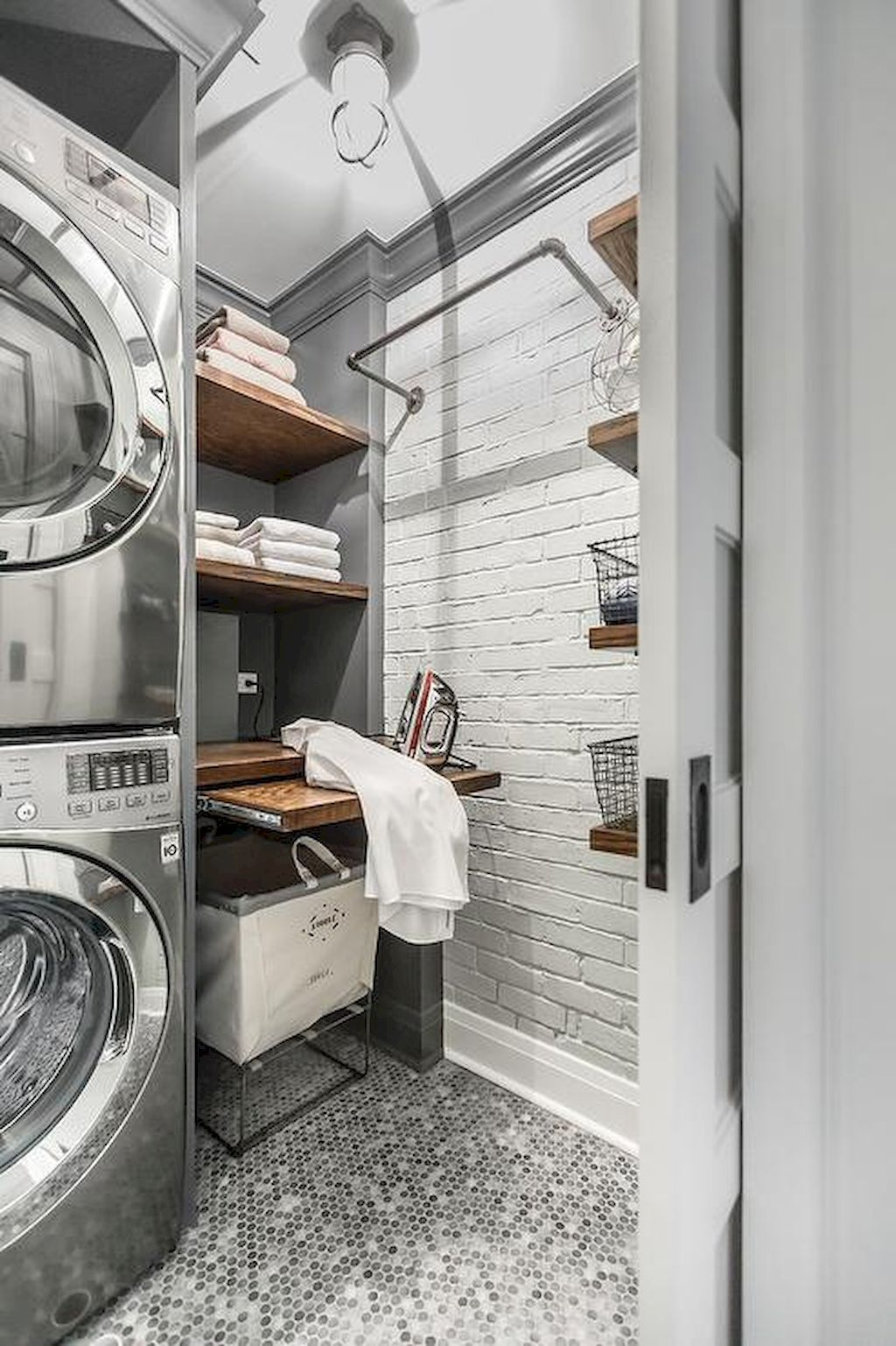 Small and Functional Laundry Room Ideas (24 | Laundry rooms, Laundry ...