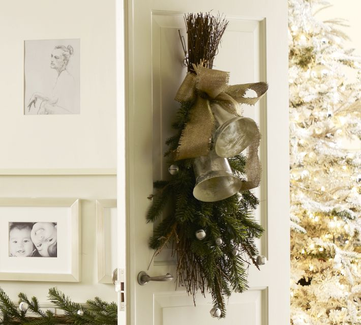 Silver Bells Decorations Pottery Barn Inspired Silver Bells Swag  Pottery Barn Inspired
