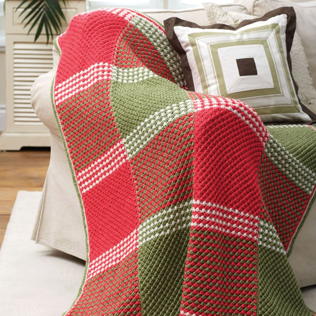 Patons Star Stitch Afghan (With images) | Blanket knitting ...