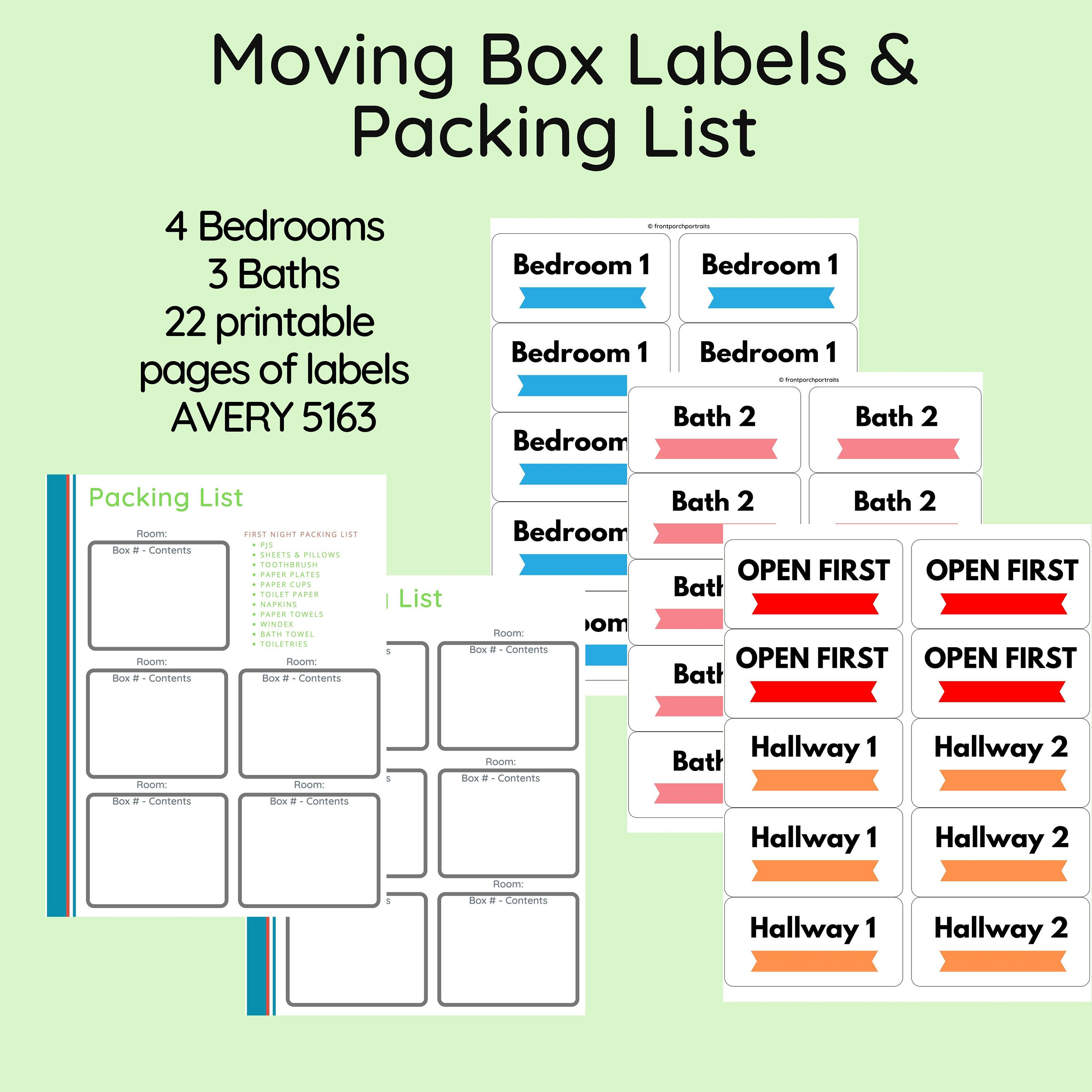 Instant Download Home Moving Box Labels Moving Box Stickers Etsy In 2020 Moving Box Labels Moving Boxes Moving Away Gifts