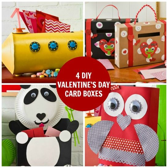 The cutest Kids DIY Valentines Day Card Box and treat holder