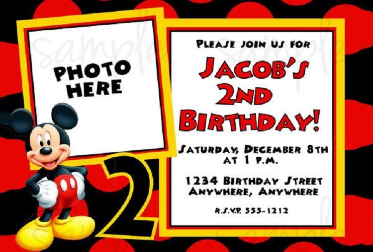 Vector Birthday Invitation Free Online Party Ideas Mickey Mouse Invitations