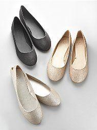 Glitter Ballerina Flats