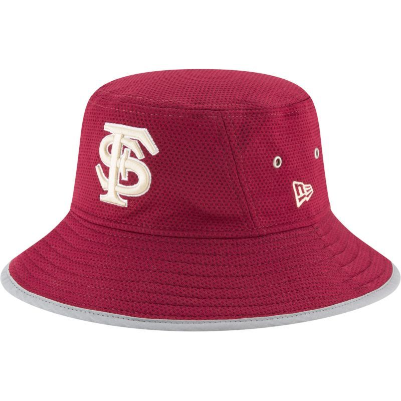 New Era Men s Florida State Seminoles Garnet (Red) NE16 Training Bucket Hat 1541b26a82bf