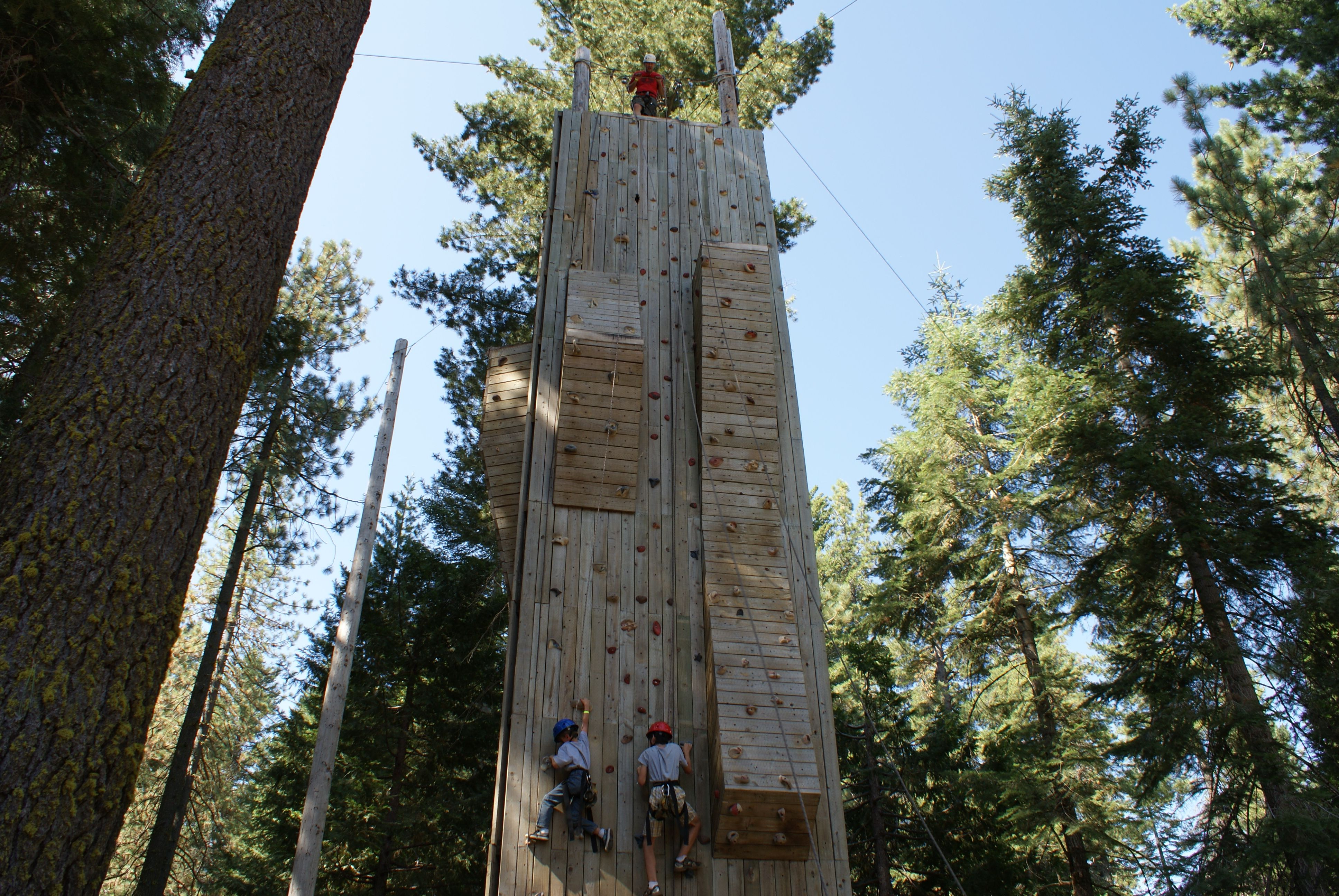Look how tall the rock climbing wall is. | outdoor style ...