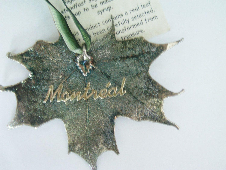 Canada Ornament / Sugar Maple Ornament / Montreal Souvenir