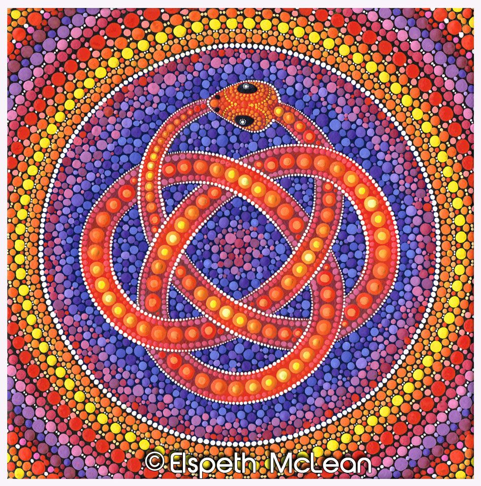 Red Ouroboros Celtic Snake By Elspeth Mclean Snake Serpent