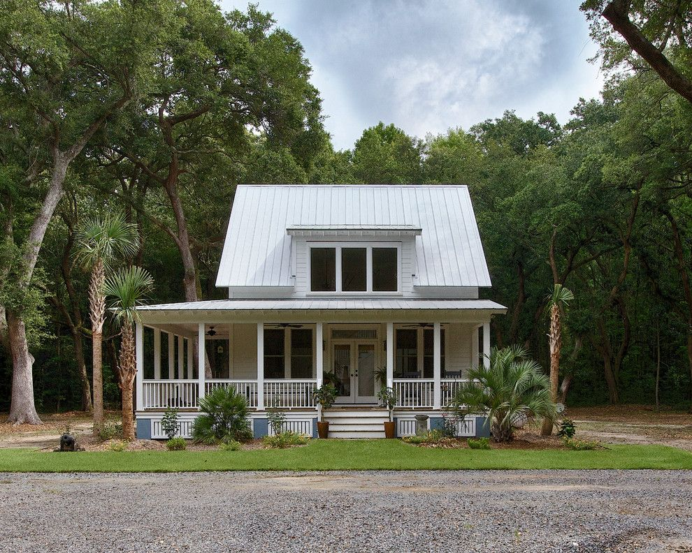 Killer Starter Homein Exterior Tropical with Bewitching Wrap Around Porch next to Shed Dormer alongside Porch Skirting and Small Cabin - Decorcology.com