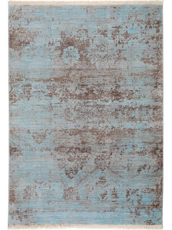 Teppich Vintage Safira Blau Wohnzimmer Pinterest