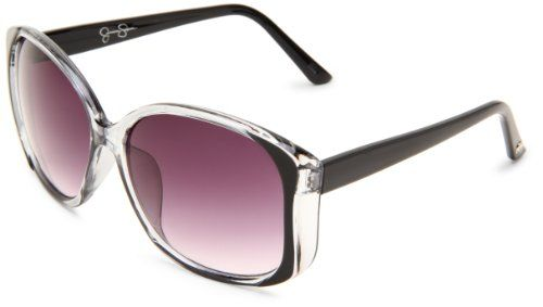 Jessica Simpson Women's J565 OX Square Sunglasses,Black Frame/Smoke Gradient Lens,One Size $45.00
