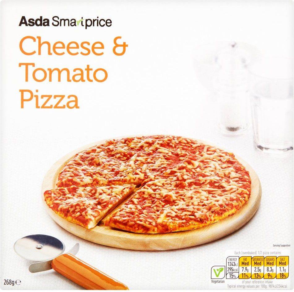 Asda Smartprice Cheese Tomato Pizza 268g Compare Prices Buy
