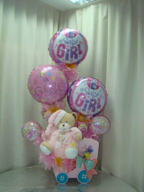 Decoraciones con globos para Baby Shower