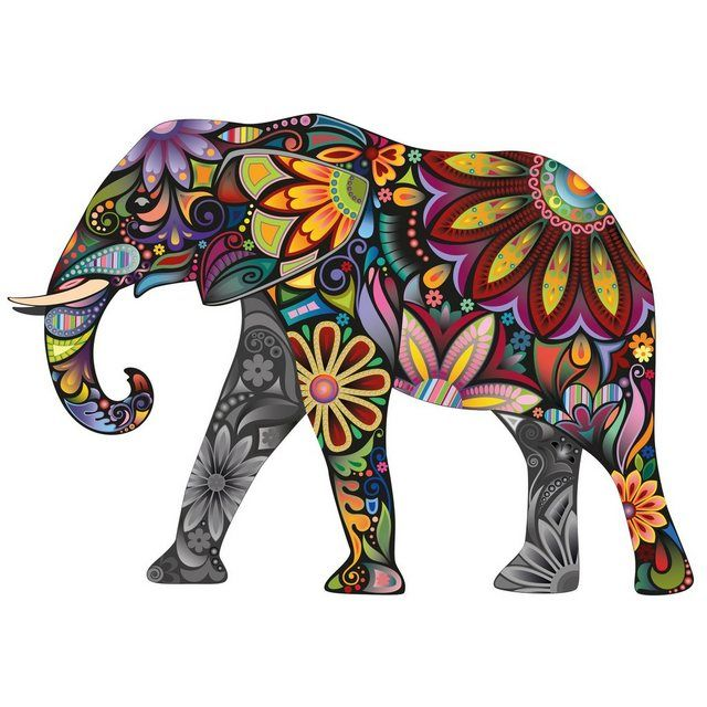 Wall decal »elephant pattern«