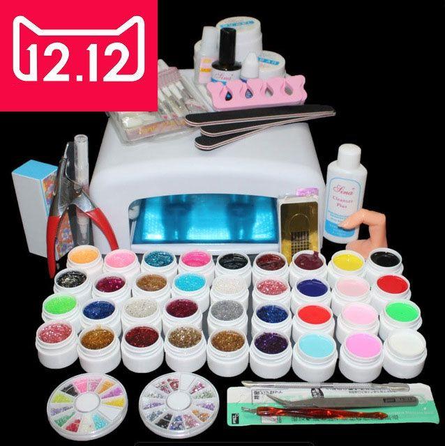 EM-111 professional uv gel nail tools ,manicure nail set , 36colors ...