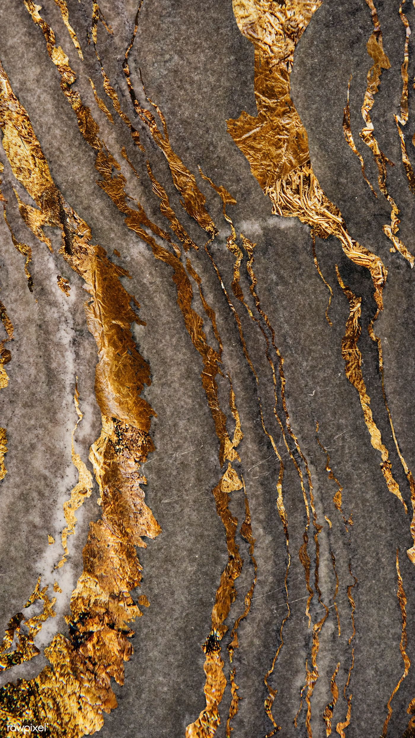 Gray marble rock with gold textured mobile phone wallpaper | premium image by rawpixel.com / Techi