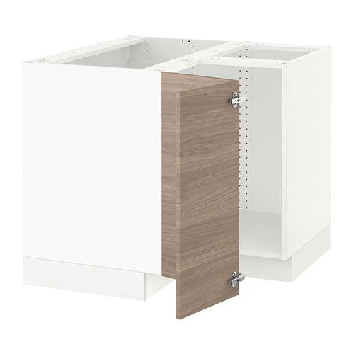 Sektion Corner Base Cabinet For Sink White Grimslov Off White In