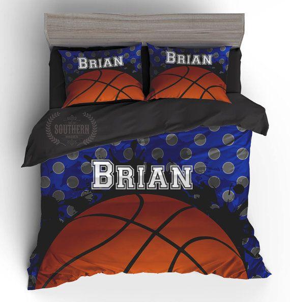 Personalized Basketball Comforter Or Duvet Cover Bedding Set