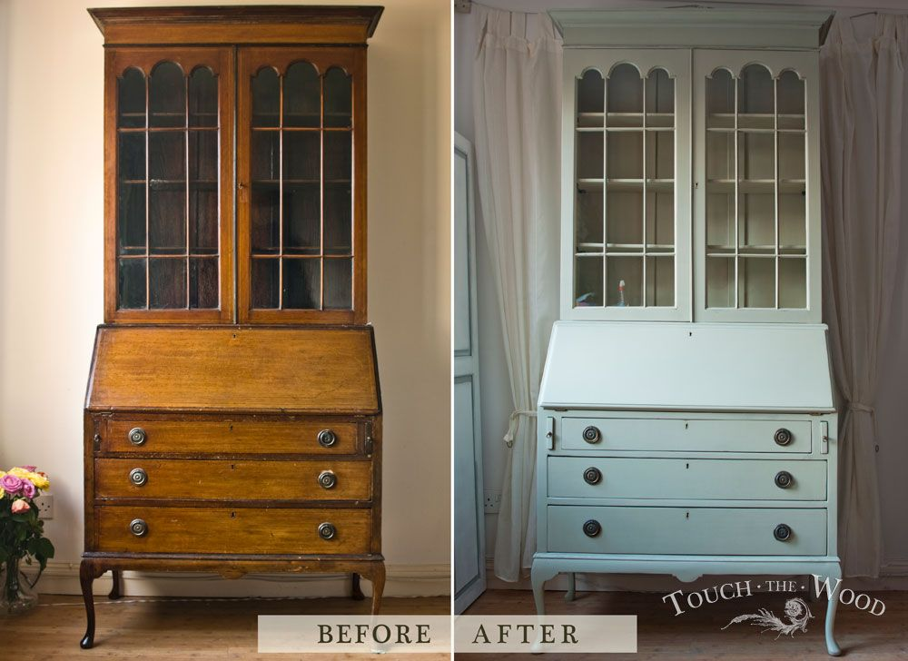 20140212_antique-shabby-chic-bookcase-bureau13_before-after_01 #homestagingavantapres