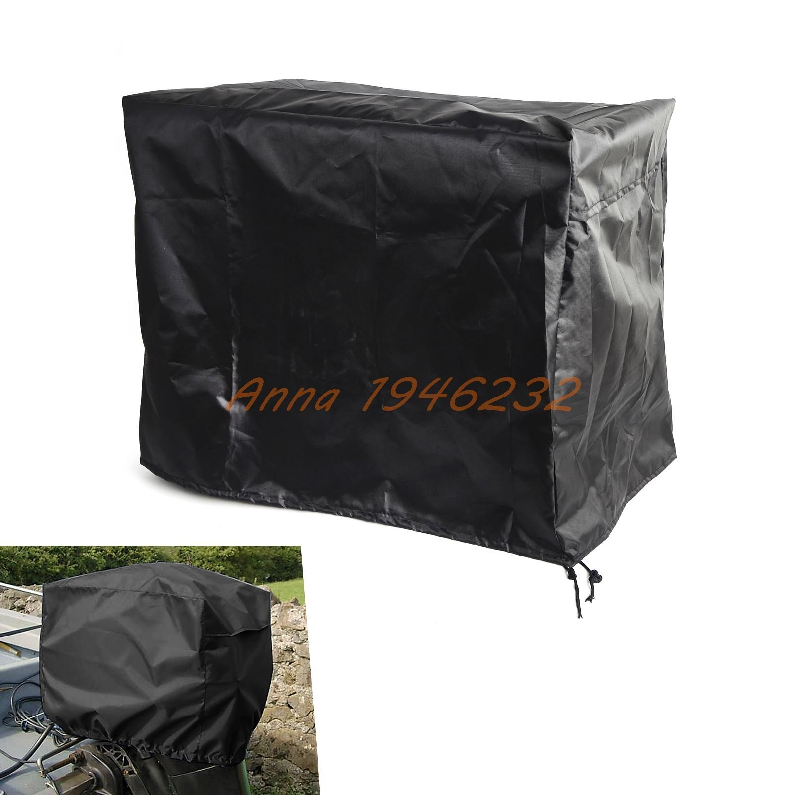 Waterproof Vented Outboard Motor 2-5 HP Boat Engine Protective Cover Grey