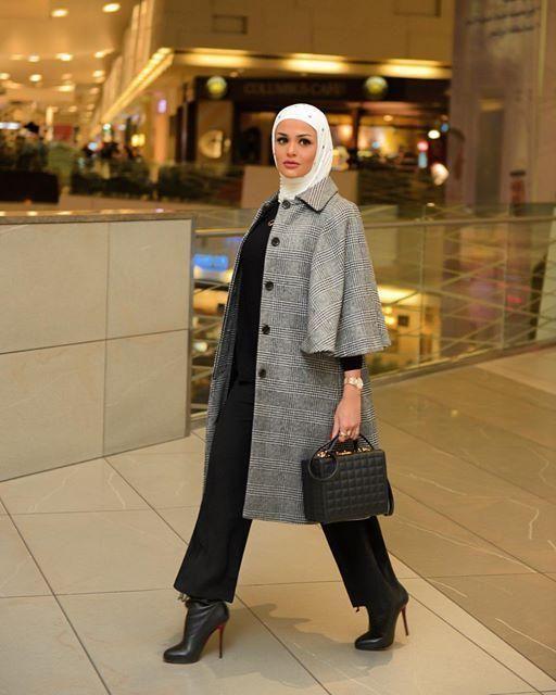 من انستقرام أناقة المعطف على طريقة الفاشينيستا مرمر مجلة سيدتي Hijab Fashion Inspiration Hijab Fashion Street Hijab Fashion