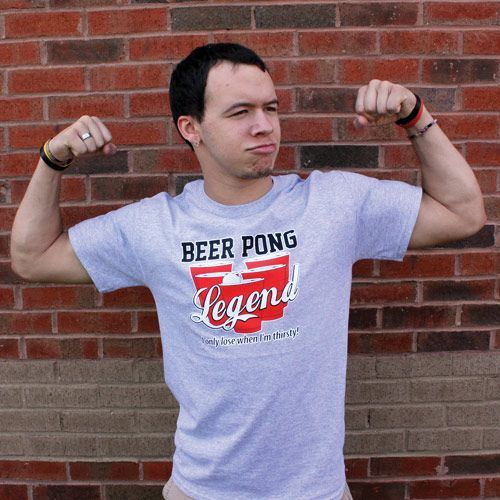 BEER PONG LEGEND - I ONLY LOSE WHEN I'M THIRSTY FUNNY T-SHIRT #i'mthirsty BEER PONG LEGEND - I ONLY LOSE WHEN I'M THIRSTY FUNNY T-SHIRT #imthirsty