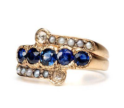 Edwardian Ecstasy: Diamond Sapphire