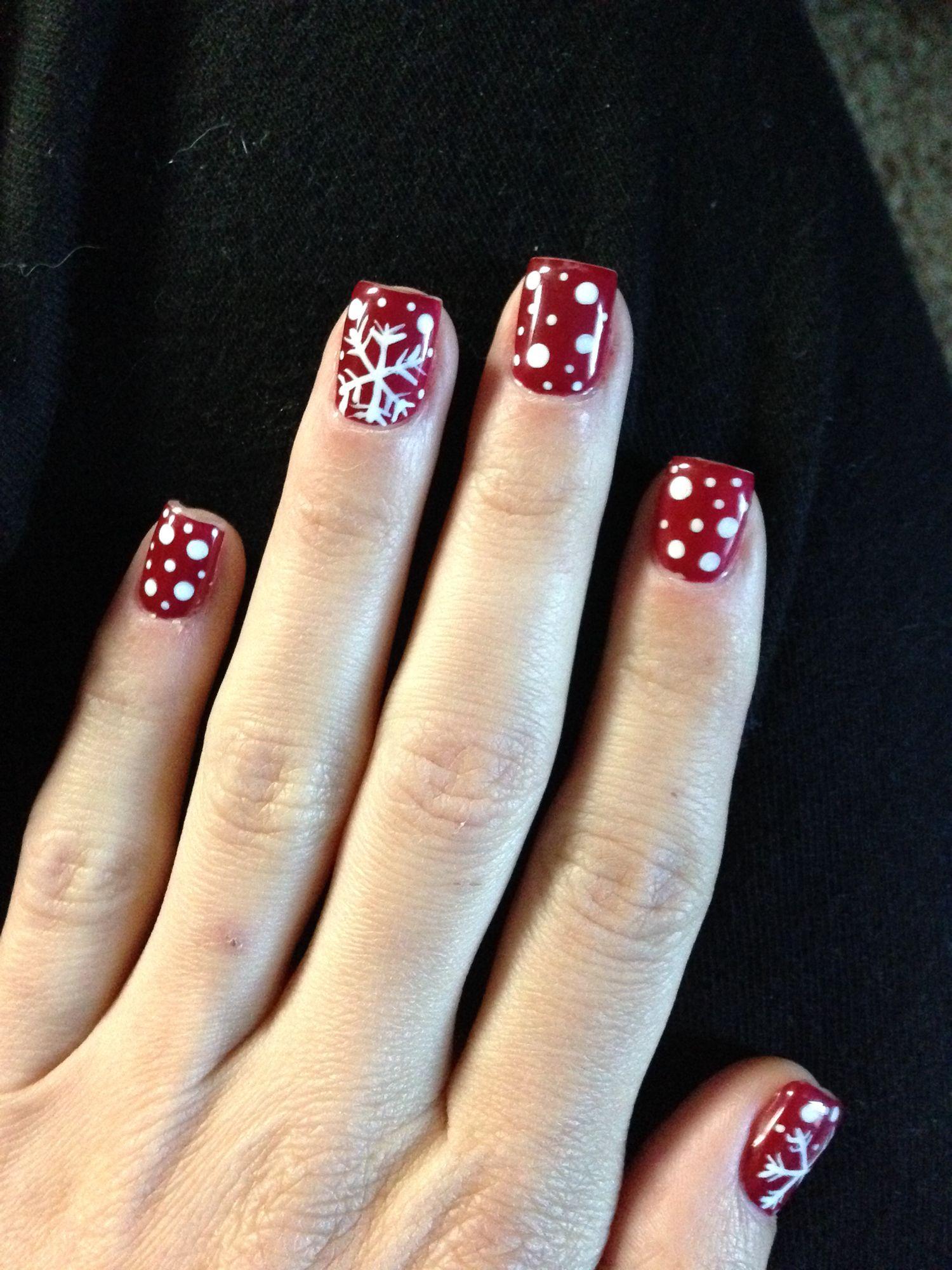 Faszinierend Weihnachts Nägel Rot Foto Von Christmas Nails · Nägel
