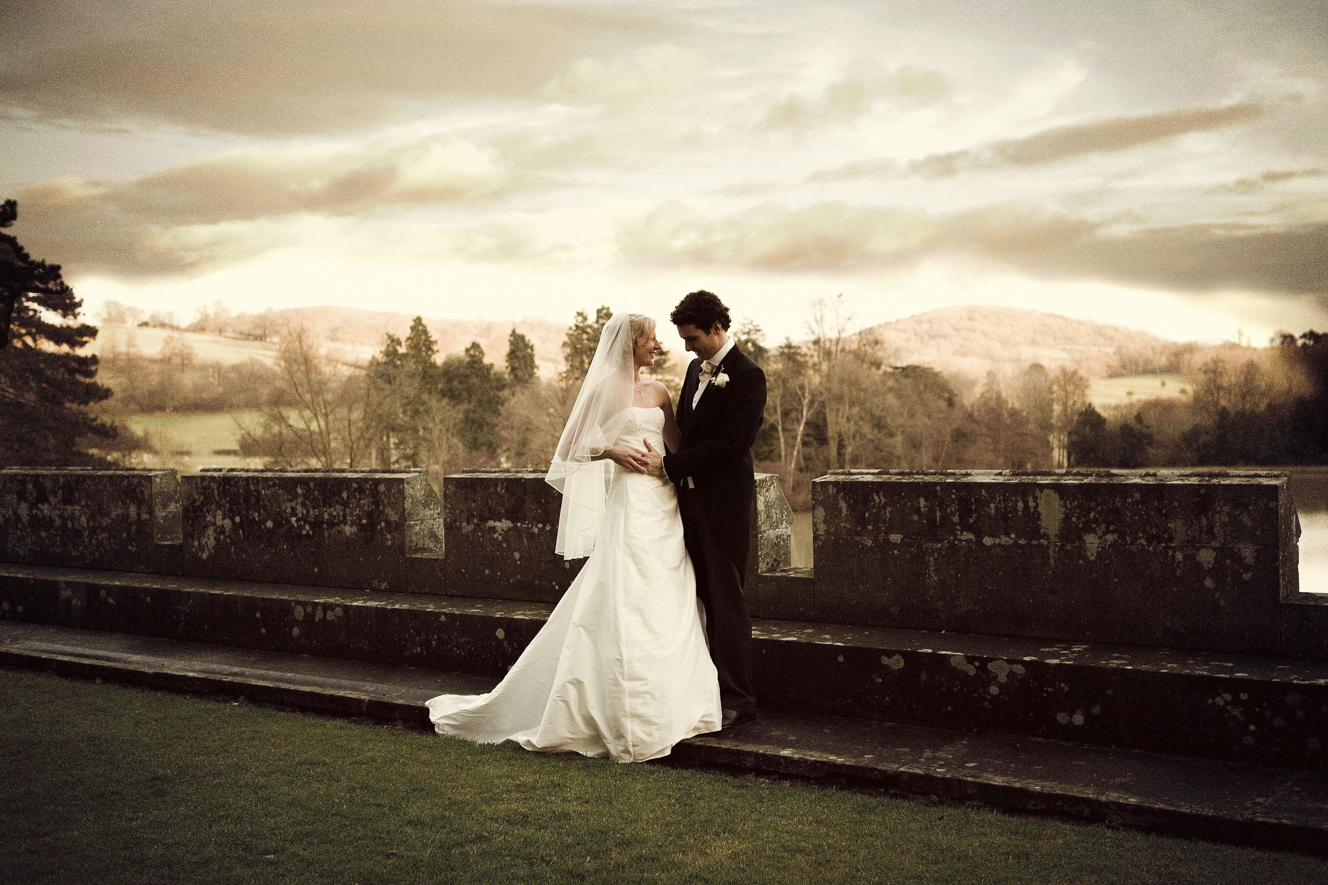 A romantic moment at Eastnor Castle  www.eastnorcastle.com #eastnorcastle A romantic, fairytale exclusive-use castle wedding venue.