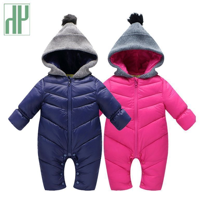 ab69a25e9 Russia winter Baby Snowsuit Infant Girl Coats Down Rompers 0-24 ...