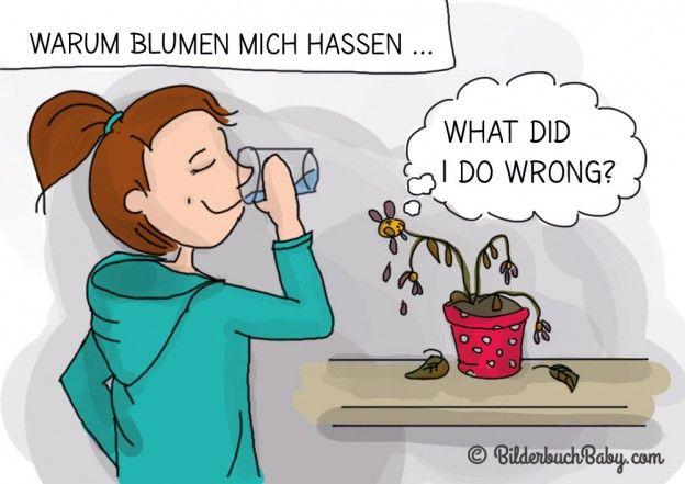 Blume Vertrocknet Blog Comic Blume Verbluht Giessen Digitalart