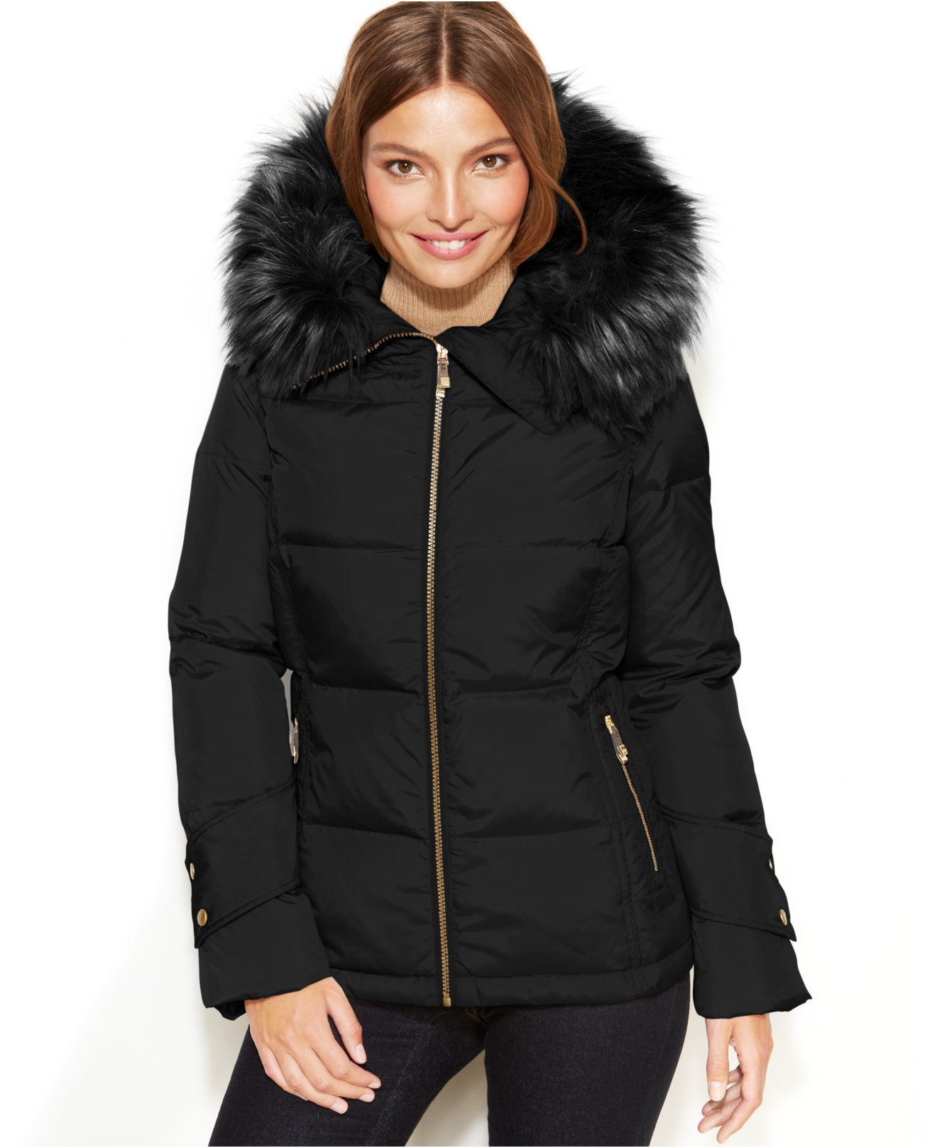 calvin-klein-black-hooded-faux-fur-trim-quilted-puffer-coat ...