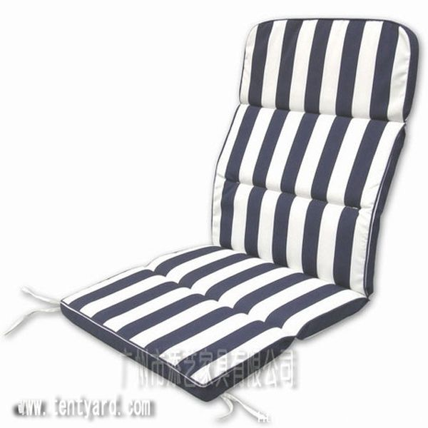 Black And White Stripe Lounger Sofa Chair Cushion With Line. Black And White  Stripe Lounger