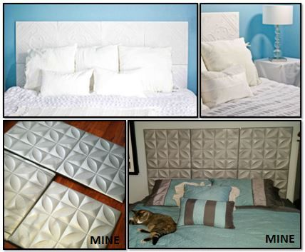 Faux Tiled Headboard This Is A Very Inexpensive Way To Make A