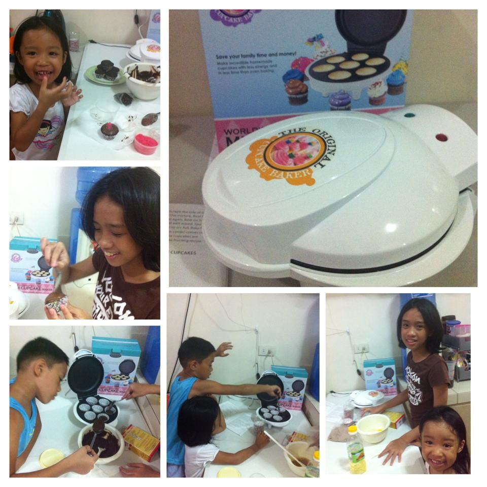 """From our buyer: """"here's our first cupcake creation, weeeee.... the kids enjoyed our baking session!""""  You too can bake with the Smart Planet or Delish Treats units  Click LIKE for learning to bake  ."""