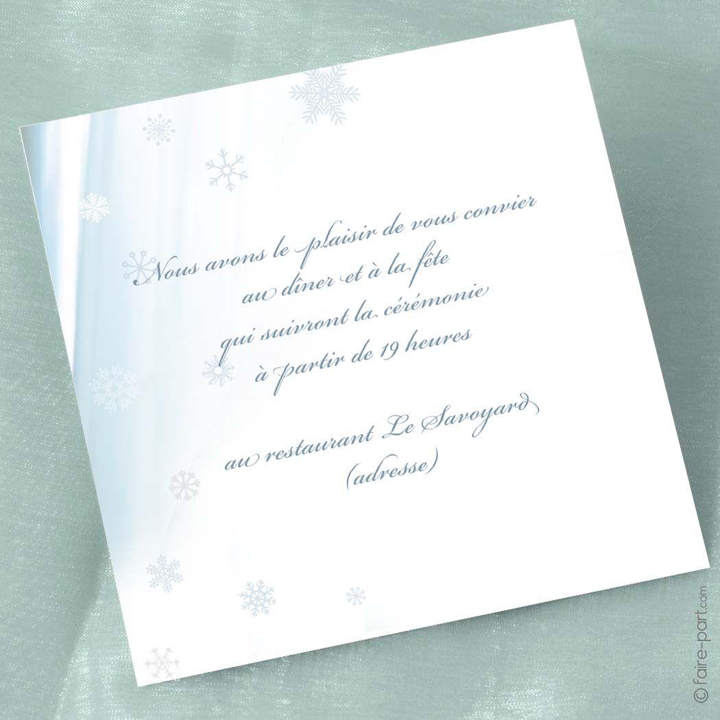 carte invitation mariage en hiver mariages en hiver invitation mariage et carte invitation. Black Bedroom Furniture Sets. Home Design Ideas