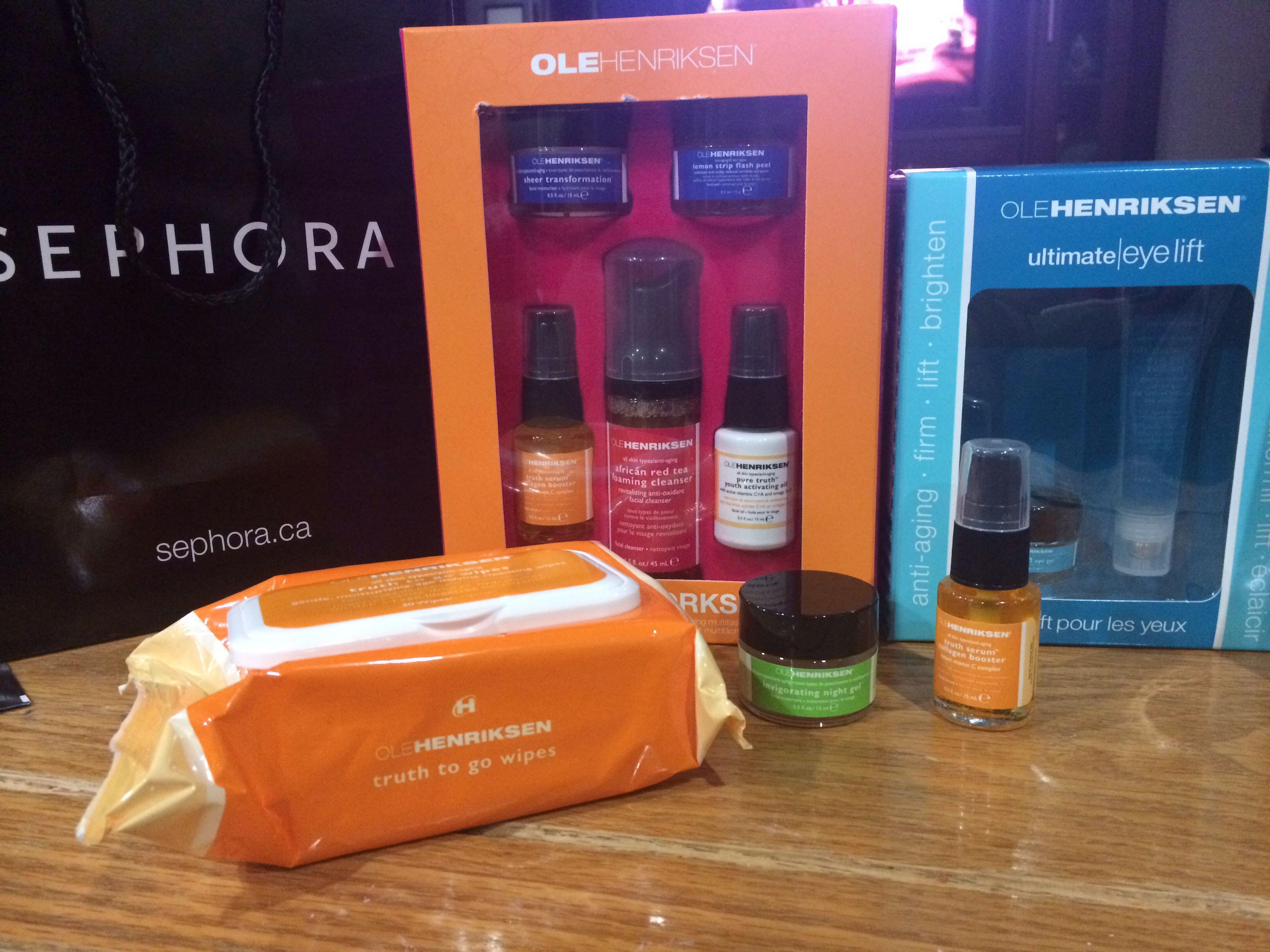 Ole henriksen Love this skincare line @Sephora @makeuphairnails101 #olehenriksen #skincare