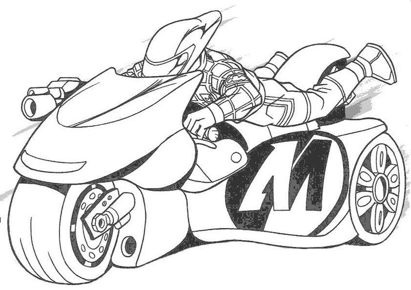 Motorrad Zum Ausmalen Pdf   Kinder Ausmalbilder
