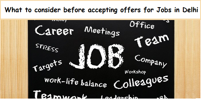 Salary Could Be The Deciding Factor When You Are Accepting A Job