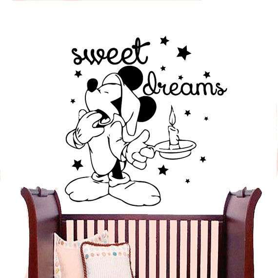 Wall Decals Sweet Dreams Decal Vinyl Sticker Mickey Mouse Window