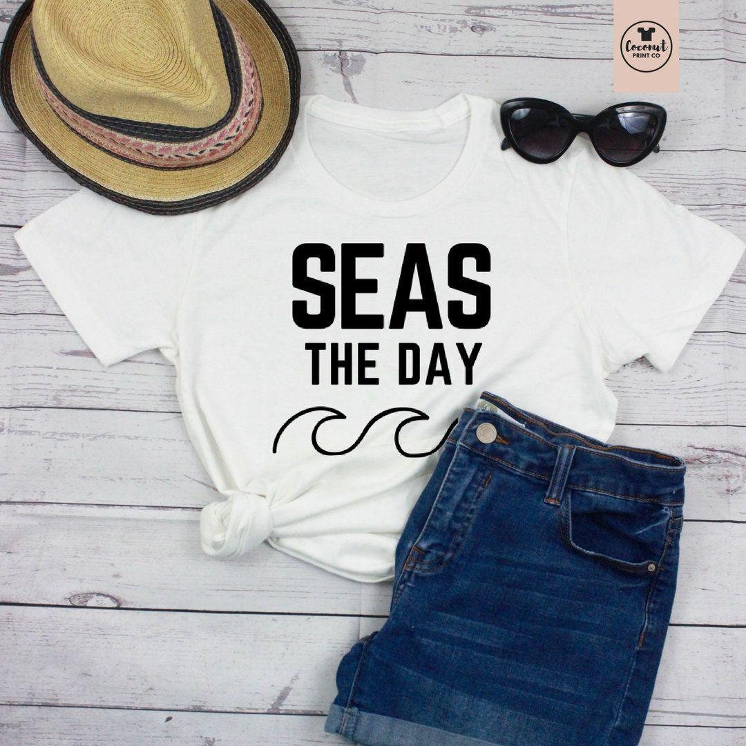 Seas the Day, Vacation Shirt, Vacay Shirt, Vacay Tshirt, Carpe Diem, Vacation Tank Top, Beach Shirt, Womens clothing, rose gold shirt,#beach #carpe #clothing #day #diem #gold #rose #seas #shirt #tank #top #tshirt #vacation #vacay #womens