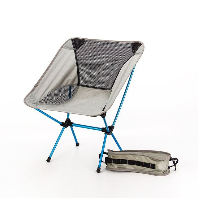 Portable Seat Lightweight Fishing Chair Gray Camping Stool Folding Outdoor Furniture Garden New Al Ultra Light Chairs Review