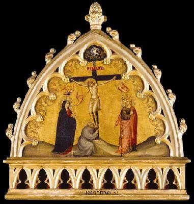 Bicci Lorenzo Di Crucifixion Tempera On Panel 47 X 48
