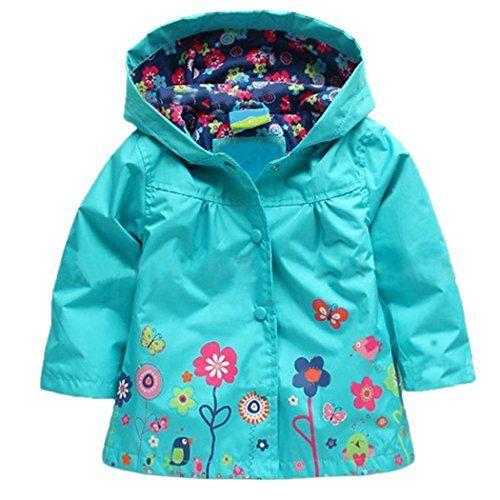 c37eb33c8 Arshiner Girl Baby Kid Waterproof Hooded Coat Jacket Outwear ...