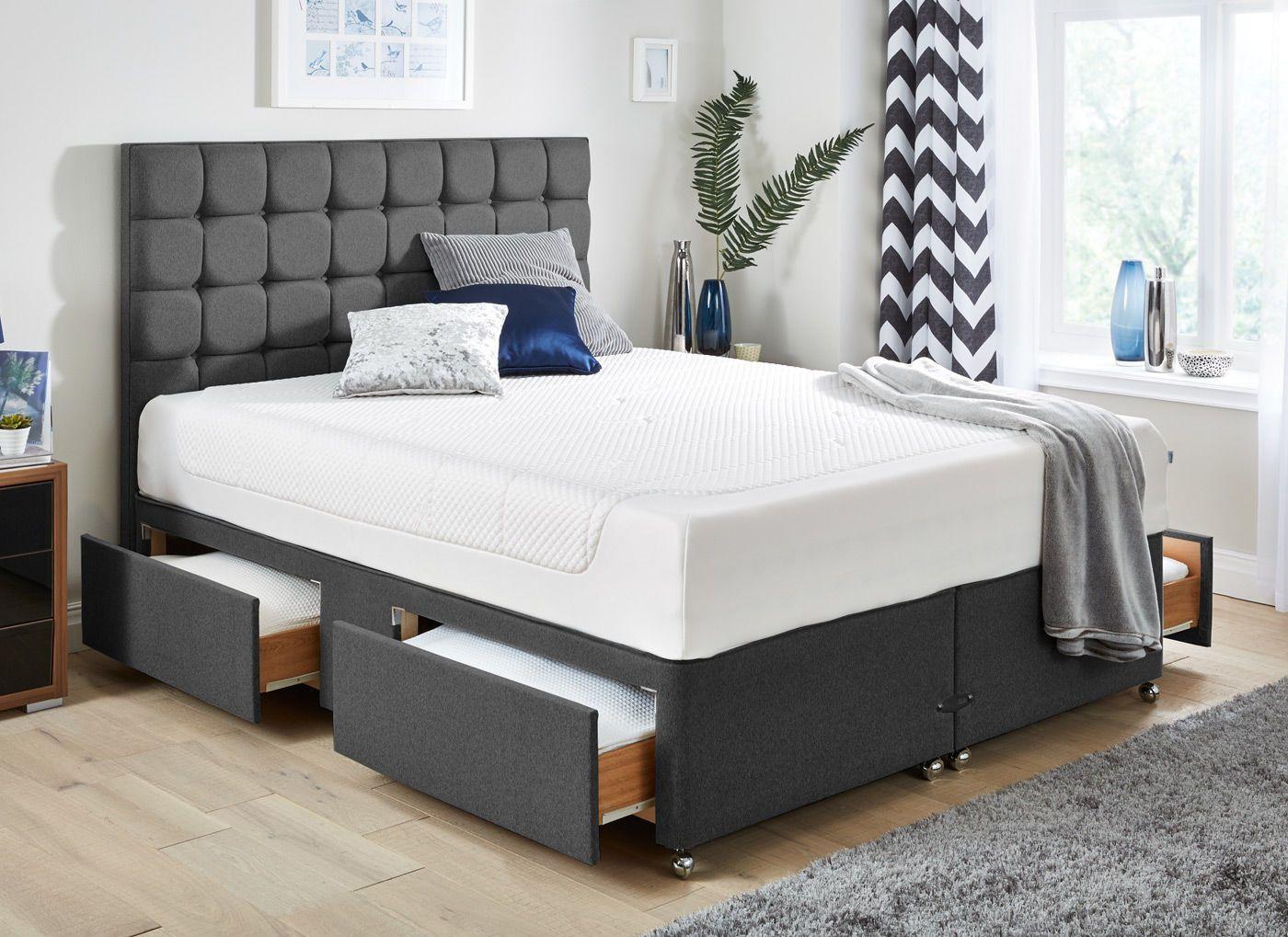 TEMPUR Cloud Deluxe 27 and Luxury Base Divan Bed Dark