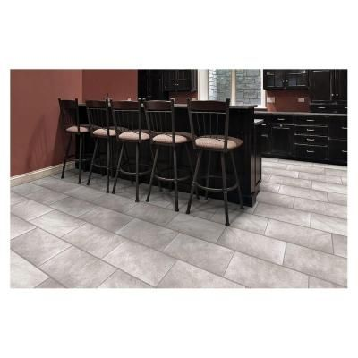 Trafficmaster Portland Stone Gray 12 In X 24 Glazed Ceramic Floor And Wall Tile 15 01 Sq Ft Case Ulp8 The Home Depot