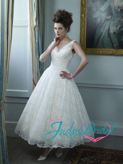 JW12203 1950s vintage tea length wedding dress [JW12203] - $399.96 ...