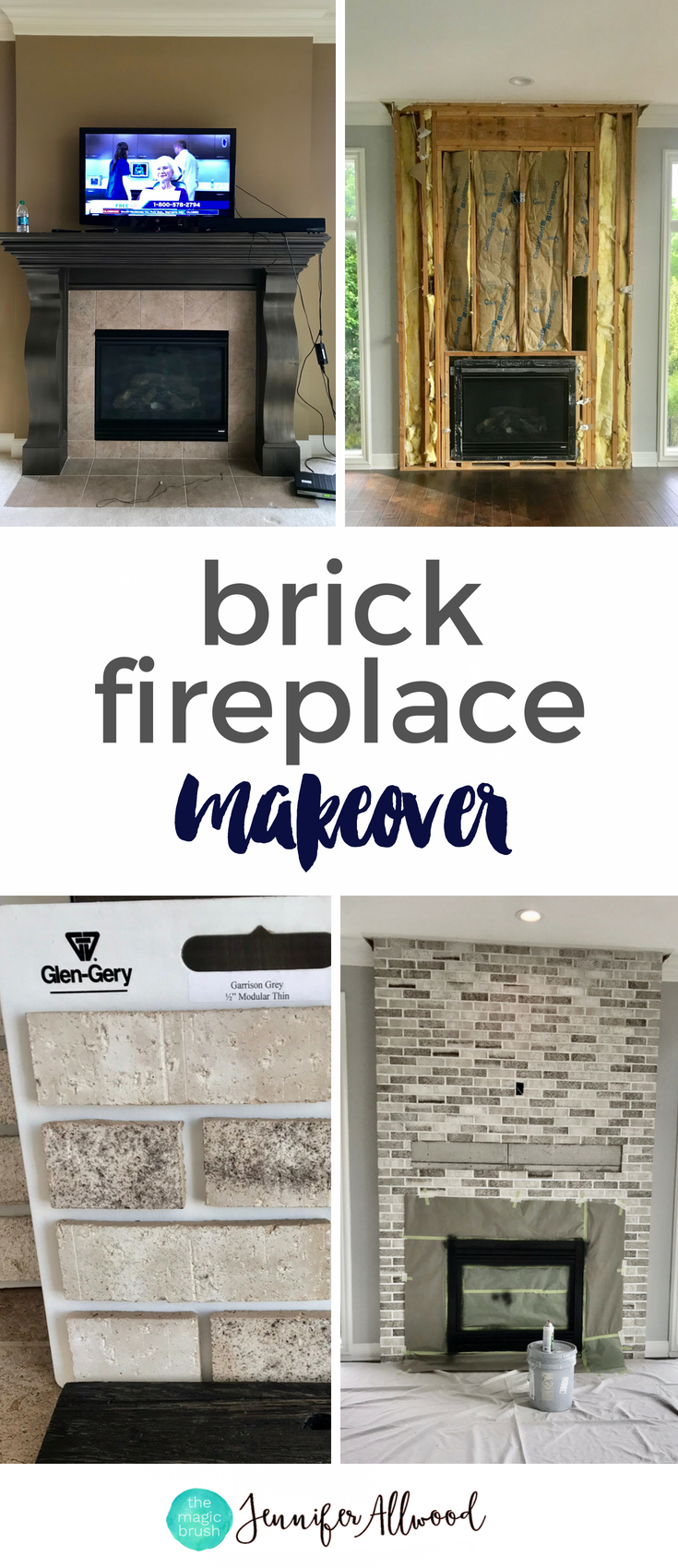 A Light Brick Fireplace Makeover By Jennifer Allwood The M