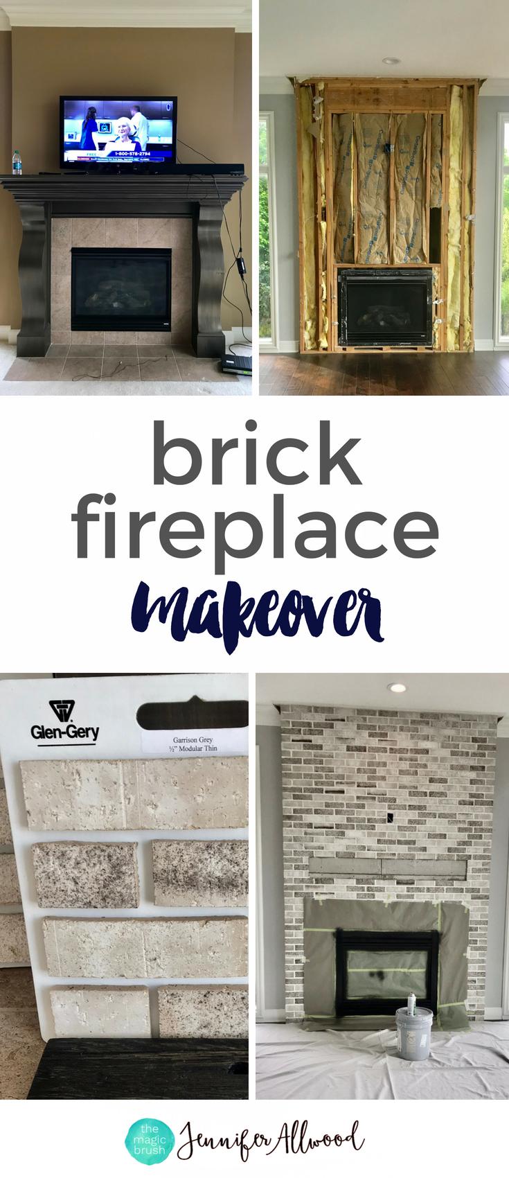 A Light Brick Fireplace Makeover By Jennifer Allwood The Magic
