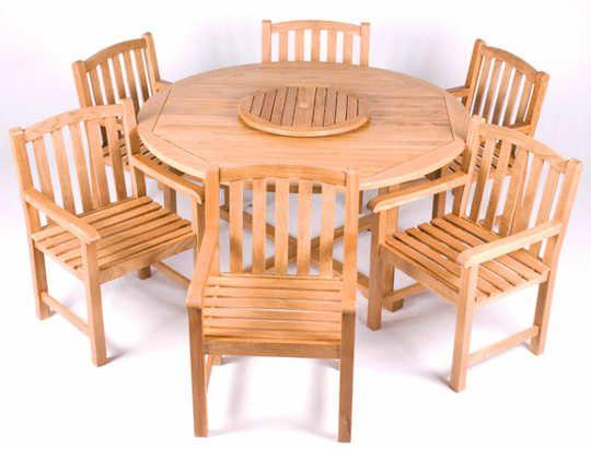 Chicago White Oak Garden Furniture Set